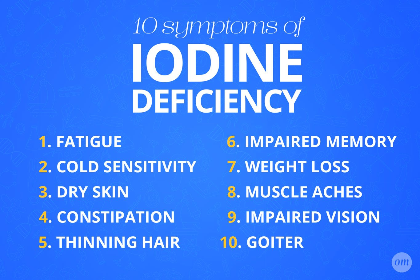 iodine deficiency symptoms infographic