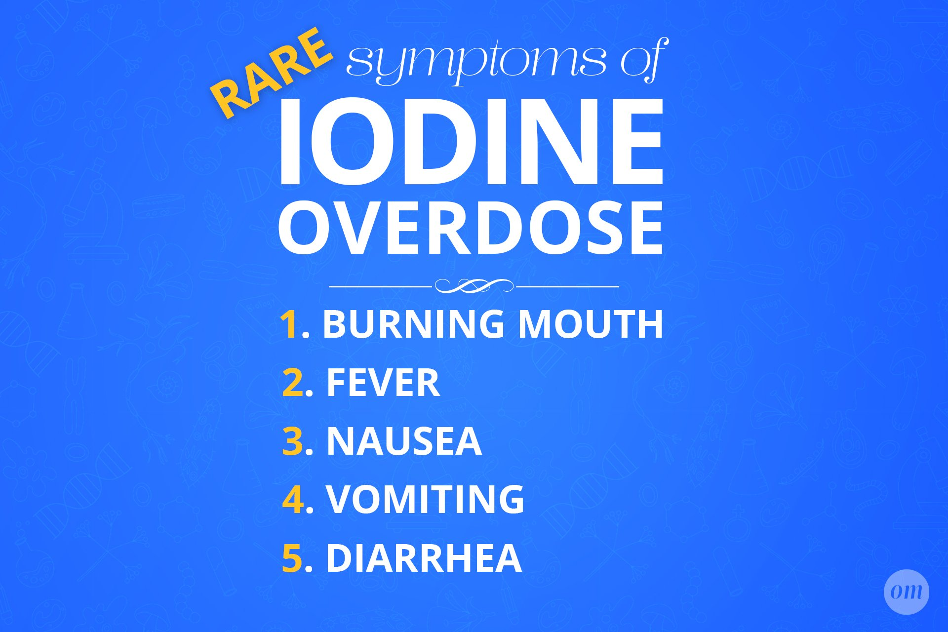 symptoms of iodine overdose infographic