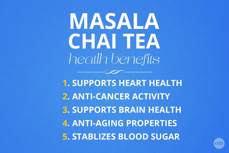 masala chai health benefits infographic