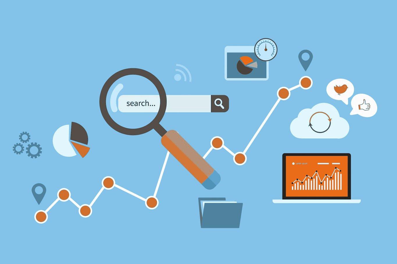 seo illustration keyword marketing
